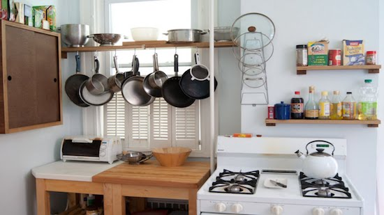 kitchen on a travel apartment