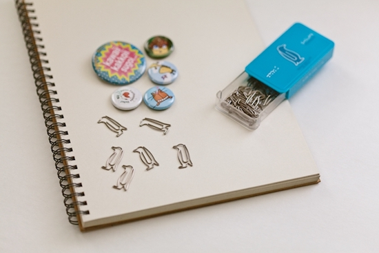 penguin-shaped paper clips