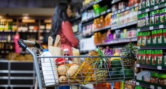 save money on food when traveling by grocery shopping