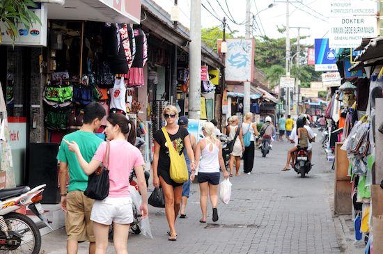 tourists in bali high season low season