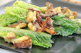 whole leaves caesar salads