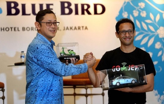 bluebird and gojek cooperation