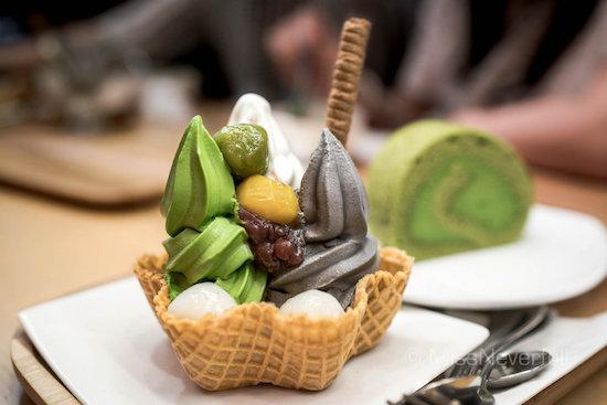 matcha ice cream dessert in travel