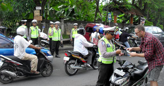tourist and polices in bali