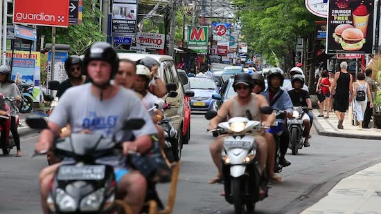 a very common sight in kuta bali