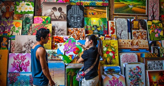 buying art in indonesia