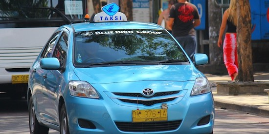 how to get around bali blue bird taxi