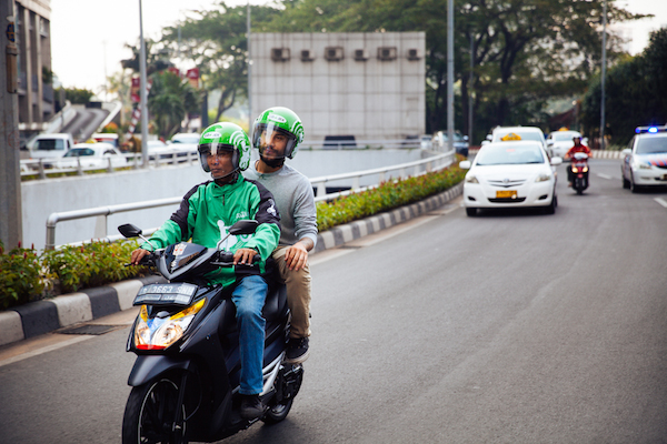 online motorcycle taxi in indonesia