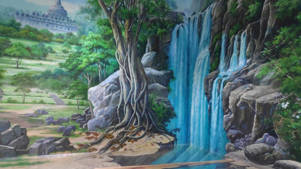 Waterfall painting in DMZ