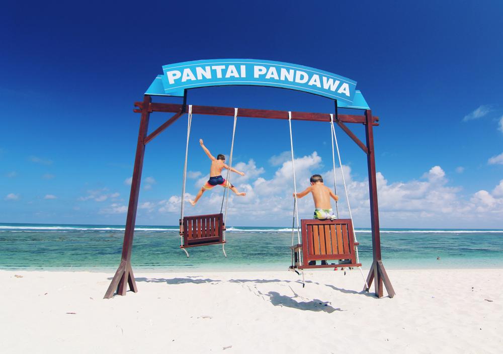Swings in Pantai Pandawa