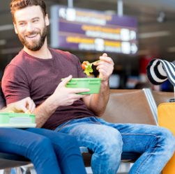 lunchbox at the airport