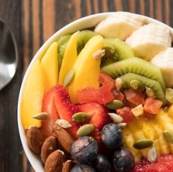 bowls of delicious fruits_msz